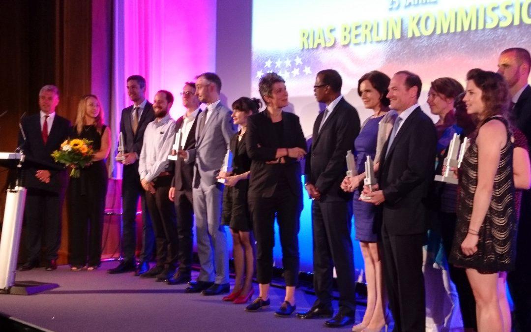 BUCH CONTACT bei der Vergabe der RIAS-Medienpreise am 12. Juni 2017 in Berlin