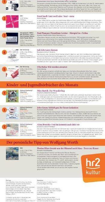 GRIOT Hörbuchverlag auf Platz 1 der hr2-Hörbuchbestenliste